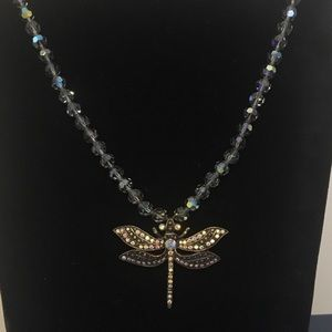 Jewelry - Rhinestone Dragonfly necklace/pin